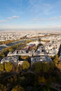 View of Paris from the Eiffel tower Stock Photos