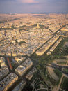 View on Paris from the Eiffel Tower. Royalty Free Stock Images