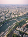 View on Paris from the Eiffel Tower. Royalty Free Stock Photo