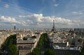 View of Paris and the Eiffel Tower Royalty Free Stock Images
