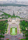 View of paris from the eiffel tower capital france Royalty Free Stock Image