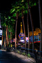 View paris hotel casino group palm trees las vegas nv Stock Images