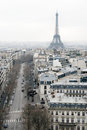 View on Paris, Les Champs Elysees Royalty Free Stock Images