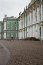 View of Park in front of the Winter Palace. Spring. Saint-Petersburg. Russia. Royalty Free Stock Photo