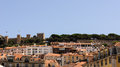 A view part of the city of lisbon from a high point portugal Stock Photography