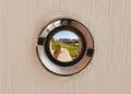View through the peephole Royalty Free Stock Photo