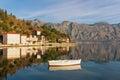 View of Perast town. Montenegro Royalty Free Stock Photo