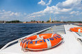 View of the peter and paul fortress from the excursion boat saint petersburg russia august in summer day Royalty Free Stock Image