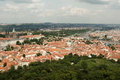View from petrin lookout tower prague czech republic is the capital and largest city of the it is the fourteenth largest city in Stock Images