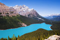 View of the Peyto lake Stock Images