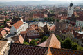 View at piata mare, Sibiu Stock Photography