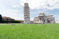 View of piazza dei miracoli pisa photo taken in the early morning Royalty Free Stock Photo