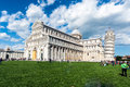 View of piazza dei miracoli pisa photo taken in the early morning Royalty Free Stock Photos
