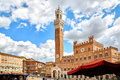 Residential houses in medieval city of Siena