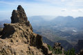 View of pico de las nieves a the highest point in gran canaria canary islands spain Royalty Free Stock Images