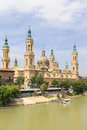 View of the Pilar Cathedral in Zaragoza Royalty Free Stock Photo