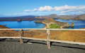 View of pinnacle rock and surroundings in bartolome island galapagos ecuador Stock Photos