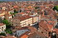 View with pisa city from the tower of pisa Royalty Free Stock Photography