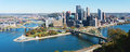 View on pittsburgh pa panoramic skyline in fall Stock Images