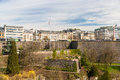 View of place de la constitution in luxembourg city Royalty Free Stock Images