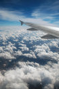 View from plane window Royalty Free Stock Photo