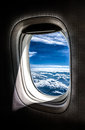 View from a plane window Royalty Free Stock Photo