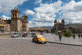 View of the Plaza de Armas in the City of Cuzco, in Peru Royalty Free Stock Photo