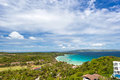 View point on island boracay philippines Stock Photo