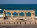 View point jaffa in to the mediterranean sea Stock Photography