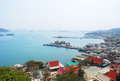 View point from mountain at koh si chang bay chonburi Royalty Free Stock Photos