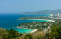 View point of three bays the most beautiful the namely kata noi beach kata beach and karon beach can be seen in phuket province Stock Photo
