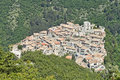 View of polino the village medieval origin in the province terni Stock Photos