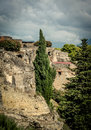 View of pompeii the hills italy Stock Image