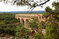 View of Pont Du Gard in France Stock Photography