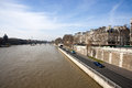 View from the pont neuf and the latin quarter paris Stock Photos