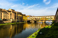 View of pont vecchio in florence italy Stock Photo