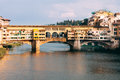 View of Ponte Vecchio and Arno River in Florence, Italy Royalty Free Stock Photo