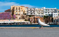 View port city beautiful to the town of the mediterranean sea Stock Photo