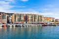 View on port of nice and luxury yachts france french riviera Royalty Free Stock Photo