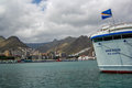 View of the port of santa cruz tenerife th april Stock Photo