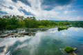 View of the Potomac River at Great Falls, Chesapeake & Ohio Cana Royalty Free Stock Photo