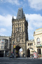 View of a powder tower it is a gothic tower in prague and one of the old city gates it is one of the symbols of prague leading Stock Photography