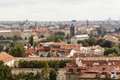 View of prague czech republic a city and the capital the the administrative center the central bohemia region and its two Royalty Free Stock Photos