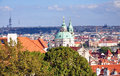 View of prague czech republic europe the city in the day Stock Photos