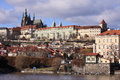 View on the prague gothic castle above river vltava czech republic Stock Photo
