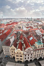 View of prague roofs in Stock Image