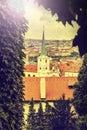 View of prague vintage retro style czech republic instagram Stock Photography