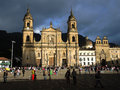 View of the Primada Cathedral in Bogota, Colombia. Royalty Free Stock Photo
