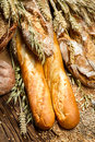 View of the products in bakery closeup Royalty Free Stock Image