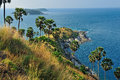 View of a promthep cape phuket island thailand Stock Photos
